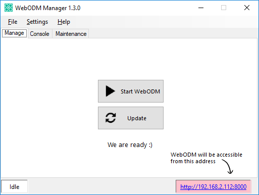 WebODM Manager